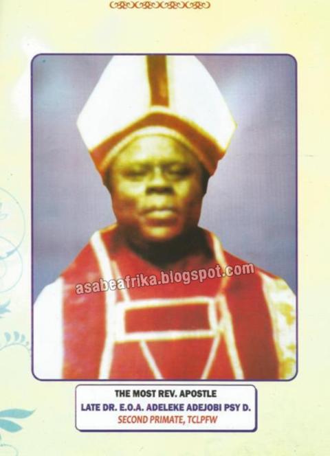 ADEJOBI, (Dr., Primate) Emmanuel Owoade Sunday Adeleke
