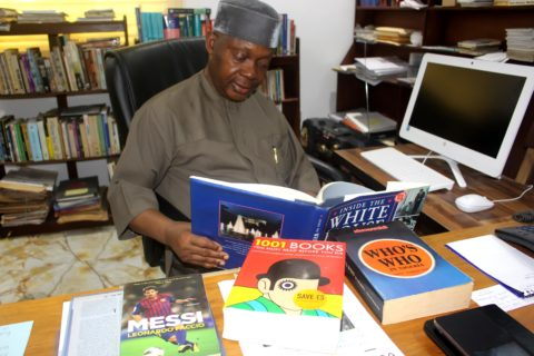 Renowned Librarian, NYAKNNO OSSO, Steps Out With BLERF'S Who Is Who In Nigeria.
