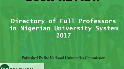 BOOK REVIEW: Directory of Full Professors in Nigerian University System 2017